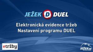 Ježek software DUEL - Nastavení programu na EET