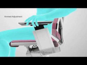 Kancelářské křeslo Antares Genidia - nastavení loketní opěrky