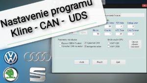 Autodiagnostika nastavenie programu,  Kline CAN  UDS