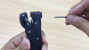 Jak nastavit ořezávačku kabelů König RG 58/59