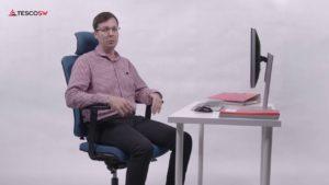 Správné nastavení kancelářské židle
