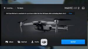 Dji Mavic Air 2 - náhled do aplikace Fly, základní nastavení CZ