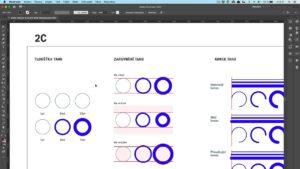 04 PG2 / Adobe Illustrator: podrobné nastavení tahu, přerušované čáry, vlastní šipky a konce, styly